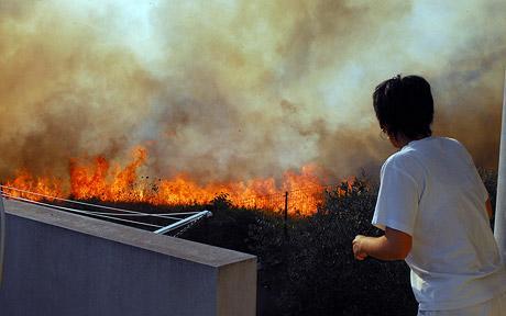 fire in sardinia