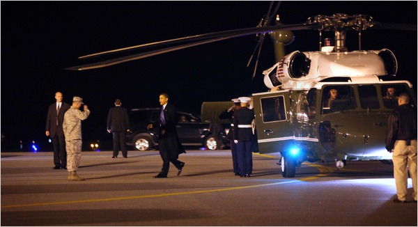 obama in dover to meet the dead DEA agents